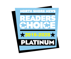 North Shore News Readers Choice Platinum Winner